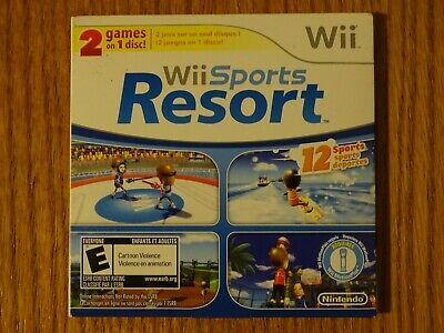 Nintendo Wii Sports + Wii Sports Resort 2 in 1 Combo Disc - RARE