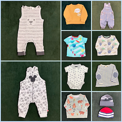 11 x Baby Boys' Clothes Bundle Job Lot 3-6 months