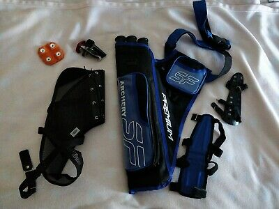 Archery Accessories, Quiver, Armguard, Chestguard ( left handed)