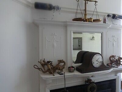 8 Day Napoleons Hat Westminster chimes Mantel Clock.