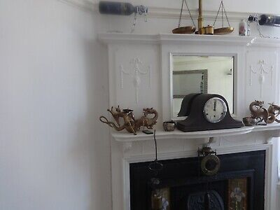JH & S, 8 Day Napoleons Hat Westminster chimes Mantel Clock.