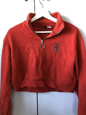 Girls Red Long Sleeved H&M Top Size XS