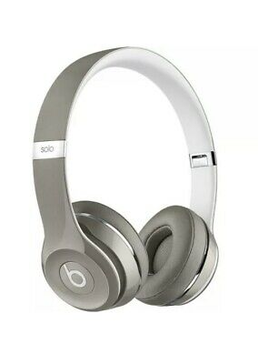 Beats by Dr. Dre Solo2 Gloss Gray Luxe Edition Wired On Ear Headphones