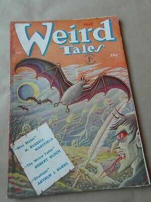 Weird Tales Magazine  , 1950  Vintage Supernatural Magazine UK Copy