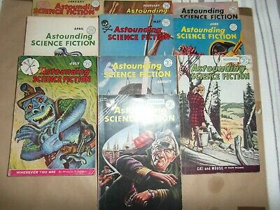 Astounding Science Fiction UK Edition 1959 - 10 Issues