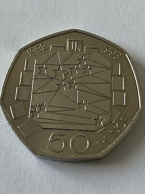 The RAREST Fifty 50p Dual Date 1992/1993 EEC Presidency 50p Coin Uncirculated Co