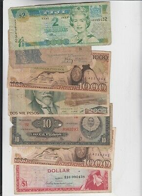World Currency collection  40 notes low grade and up
