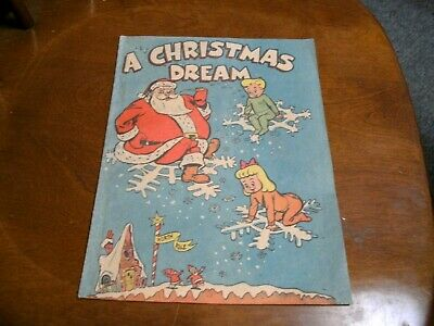 Vintage 1952 Christmas Dream Comic - Ben Franklin Store Promotional