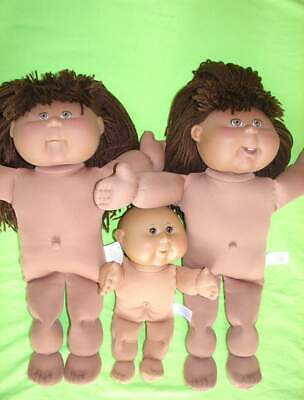 "Excellent DOLL LOT 16+10"" AA Cabbage Patch Kid PA1 PA3 PA7N 04+ Play Along Brown"