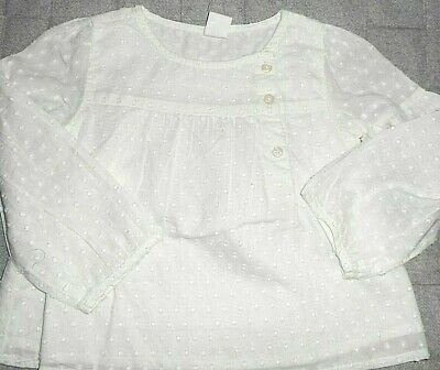 Baby Gap 2 T Toddler ( 2 Year Old) Eyelet Top , In Ivory New With Tags