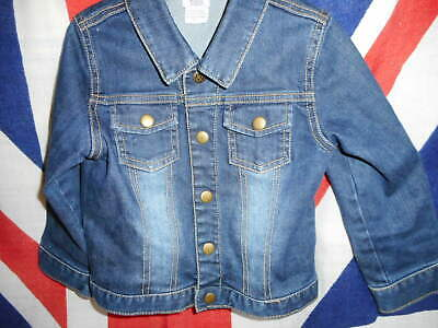Childs Mamas And Papas Denim Jacket Age 4 To 5 Distressed Look