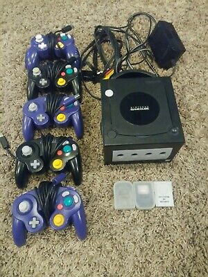 Nintendo GameCube Console with Controllers and Memory Cards