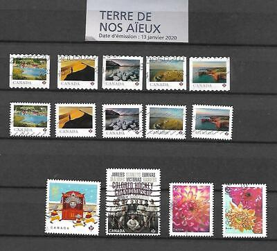 Lot # 355 Canada  2020 Stamps  14 used Stamps  2 cpl sets