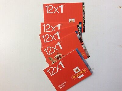 ROYAL MAIL GB 60 First Class Self Adhesive Stamps in 5 x 12 Booklets
