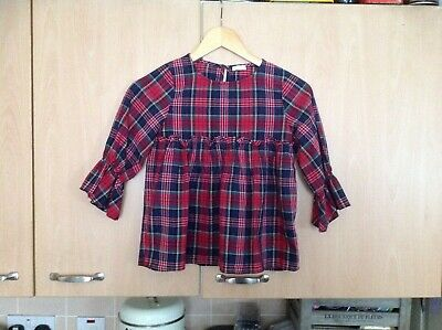 Lovely Next Tartan Top For Children  Aged 9 Years In Good Clean  Condition