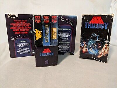 STAR WARS Trilogy VHS 3-Tape Box Set Unaltered Original Theatrical Version