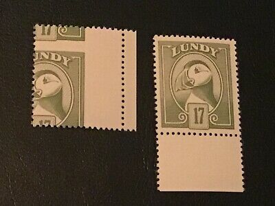 Major Error  Perferation Shift On Lundy 17 +  Normal Stamp  U/Mint  Very Nice
