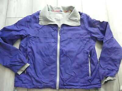 Girls Blue/Purple Fat Face Lightweight Shell Jacket With Grey Lining Age 14 Yrs