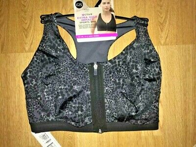 BNWT M&S Active Extra High Impact Sports Bra - Zip Up Front Size 34A rrp £25