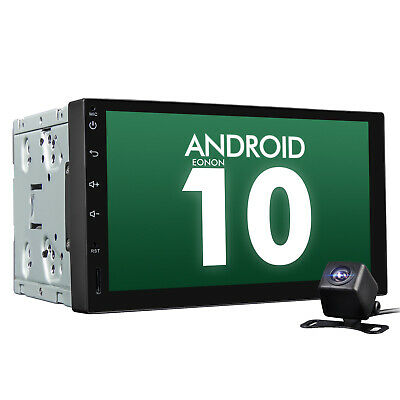 """Android 10 2 Din 7"""" Touch Screen Car Stereo GPS Sat Nav Radio Bluetooth Free CAM"""