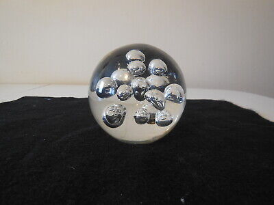 Lg. Clear Controlled Bubble Paperweight