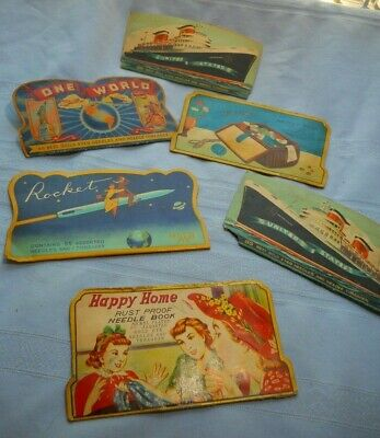 Lot of OLD Needle Case Great Graphics