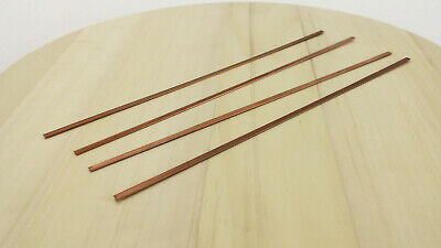 4x | 4pc Copper Strip Cu Metal 3.9 x 0.9 x 254mm for DIY Electronics Tools Etc