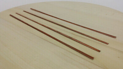 4x | 4pc Copper Strip Cu Metal 3.6 x 0.7 x 254mm for DIY Electronics Tools Etc