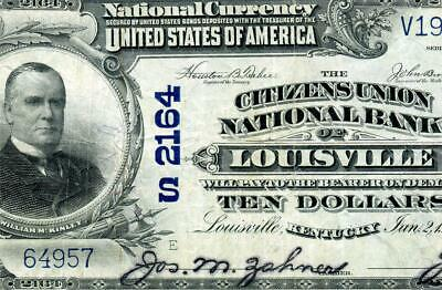 HGR SUNDAY 1902 $10 LOUISVILLE Kentucky ((WANTED)) AWESOME GRADE