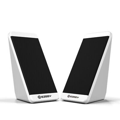 EZEEY 2PCS Mini Computer Speaker USB Wired Laptop Speaker Surround Stereo M F2R9