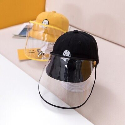 Cute Baby Kids Removable Droplet Hat Baseball Cap +Transparent Face Shield US