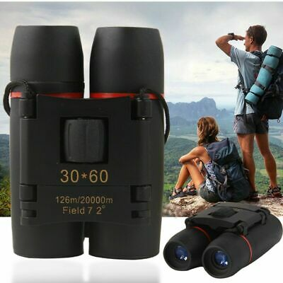 30*60 Zoom Mini Compact Binoculars Foldable Telescopes Roof Prism Camping Hiking