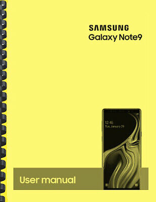 Samsung Galaxy Note 9 Note9 AT&T OWNER'S USER MANUAL