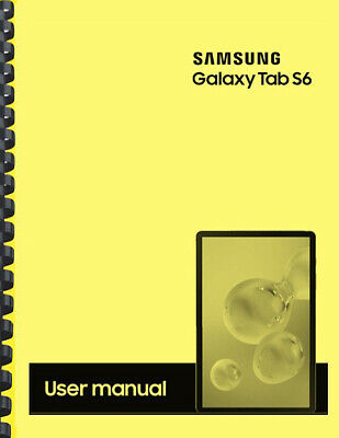 Samsung Galaxy Tab S6 Tablet OWNER'S USER MANUAL