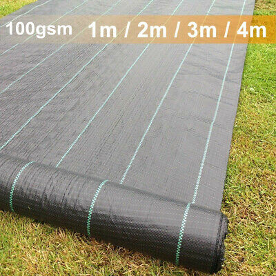 100gsm Weed Control Ground Cover Fabric Membrane 2/3/4m Suppressant Landscaping