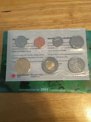 2003 Canada Uncirculated Proof-Like Mint Set w/ original Envelope & COA