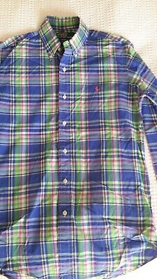 Ralph Lauren  Gents multi coloured check shirt in shirt size S.