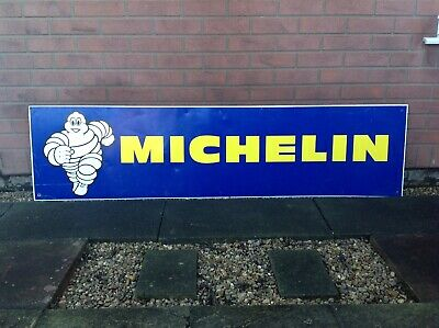"""Vintage Original Large """"Michelin-Tyre Man"""" Metal Sign;6ftx20""""Inches;1-Sided."""