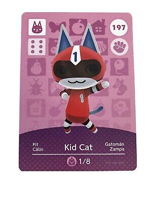 Kid Cat GENUINE OFFICIAL Animal Crossing Amiibo Card New Horizon UNSCANNED