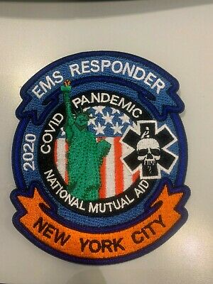 New York City EMS Patch First Responder 2020 Outbreak Pandemic EMT Paramedic