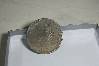 1875 CC Authentic Trade Dollar Great Detail No Chop Marks