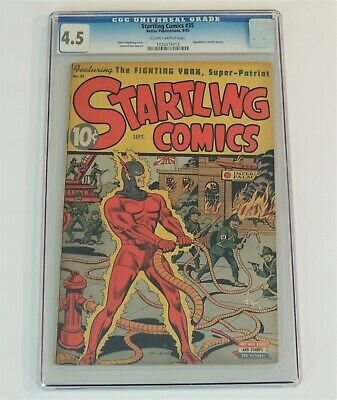 1945 STARTLING COMICS #35   CGC Graded 4.5   Great Schomburg Cover