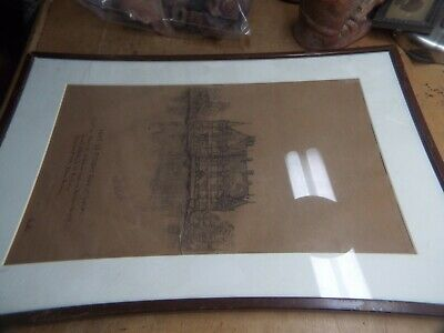 Ww1  Ink Drawing Built  Henry The 4Th Castle  By A. J Newton To Lt. Buchanan