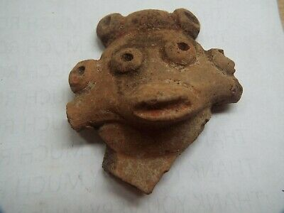 VERY RARE Saladoid period pottery Morphology FIGURE HEAD  400 BC 600 AD AFT1