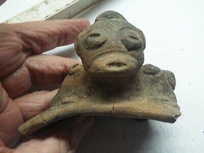 RARE Saladoid period pottery Morphology FIGURE HEAD  400 BC 600 AD AF3