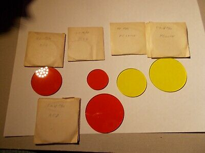 LOT 7 , Optical Filter Red and  Yellow