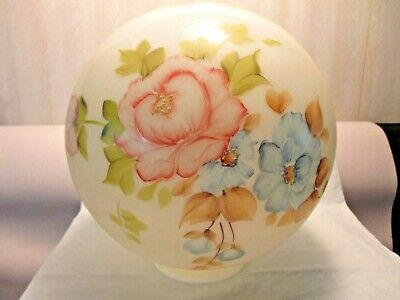 """10""""  Ball Lamp Shade~~N.o.s.~~Pink & Blue Flowers"""