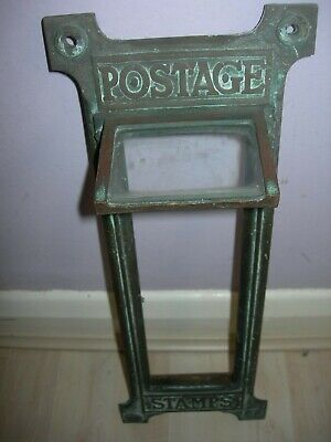 Original Vintage GPO Royal Mail Stamp Vending Machine Front with glass,