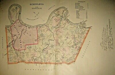 Schuylkill Township Chester County 1883 Lge Color Map Phoenixville, Valley Forge