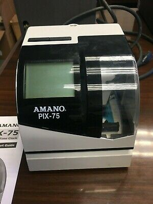 Amano Pix 75 Timeclock, Good condition but needs power chord